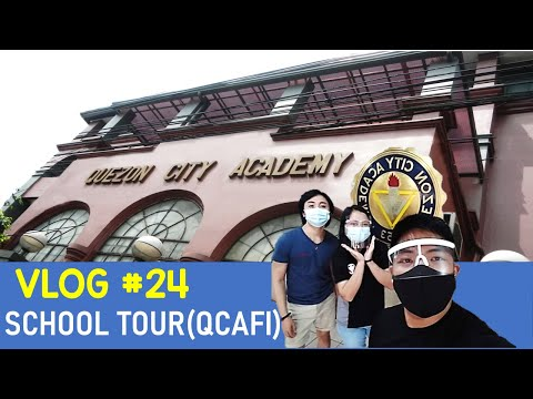 Vlog 24: What is it like inside Quezon City Academy    SCHOOL TOUR