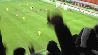 Анжи - Ливерпуль 1-0(Гол Траоре, заснято с трибуны)