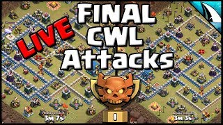 *Final Attacks* The Last 2 CWL Live Th12 Hits | Clash of Clans