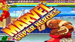Marvel Super Heroes (ARCADE CPS2) 1CC IronMan Playthrough (FULL GAMEPLAY)