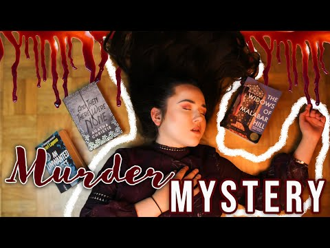 READING VLOG: reading YOUR favorite MURDER MYSTERY books! ✨ agatha christie and a snowed in hotel!