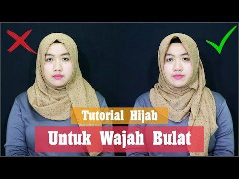 Tutorial Hijab Untuk Wajah Bulat Atau Pipi Cubby Dengan Hijab Pasmina