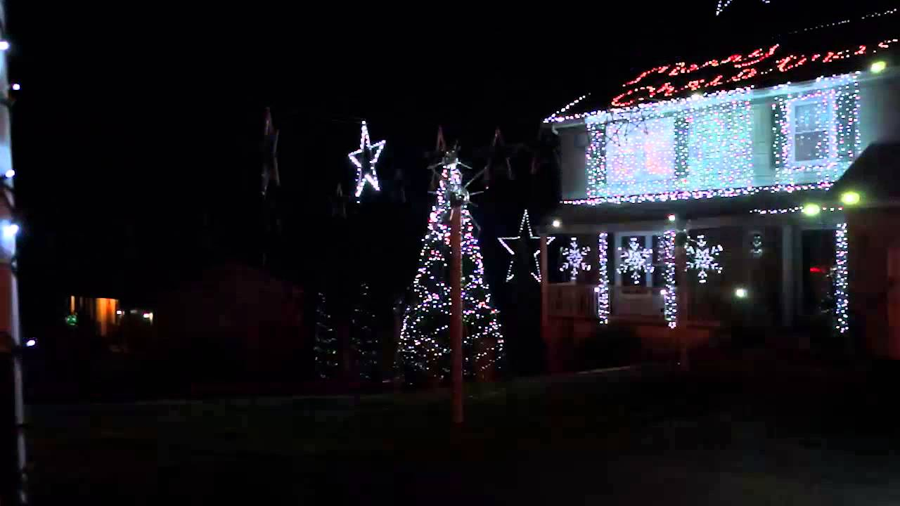 Christmas Light Show in Ellicott City - YouTube