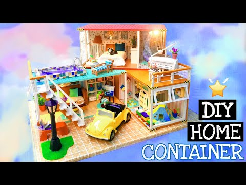 DIY Miniature Dollhouse Kit | Container Home |  Miniature with Jenny