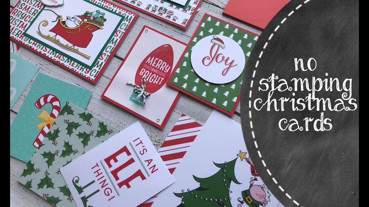 quick cute no stamping christmas cards - No Photo Christmas Cards