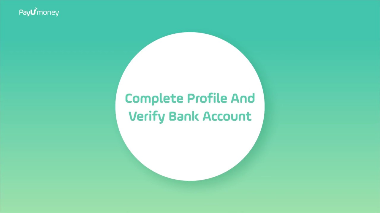 How To Verify Bank Account On PayUmoney Payment Gateway?
