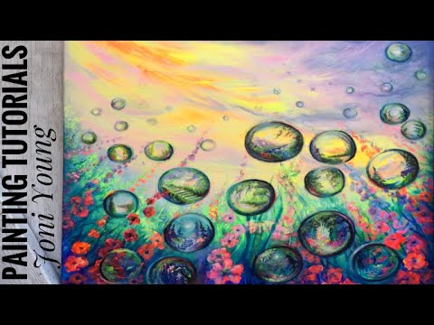 How To Paint Bubbles/ Mini Landscapes/Acrylic Painting / Step By Step