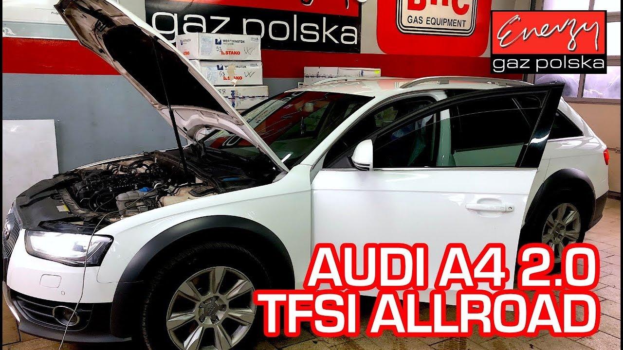 Montaż LPG Audi A4 z 2.0 TFSI  bezpośredni wtrysk w Energy Gaz Polska na gaz KME NEVO-SKY Direct