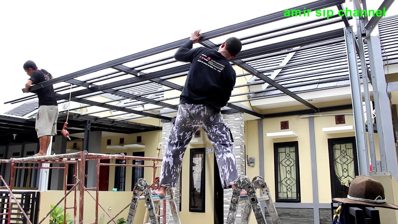 lisplang kanopi baja ringan cara pasang how to install lightweight steel