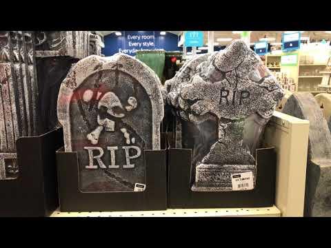 At Home Halloween Store Walkthrough - Part 7: Aisle Shelves