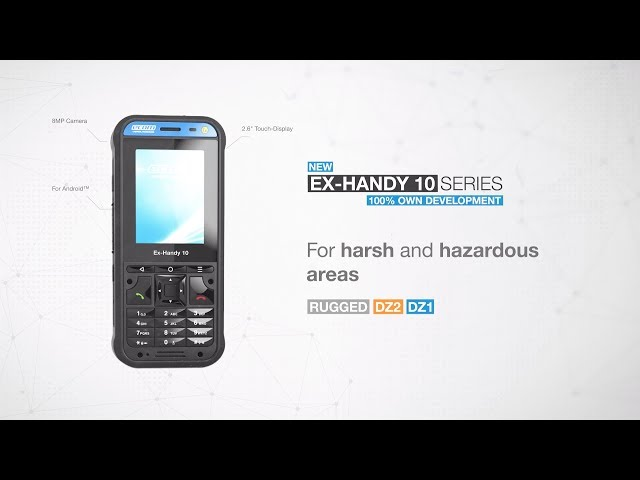 Intrinsically Safe Feature Phone for Zone 1/21 and Div  1—Ex