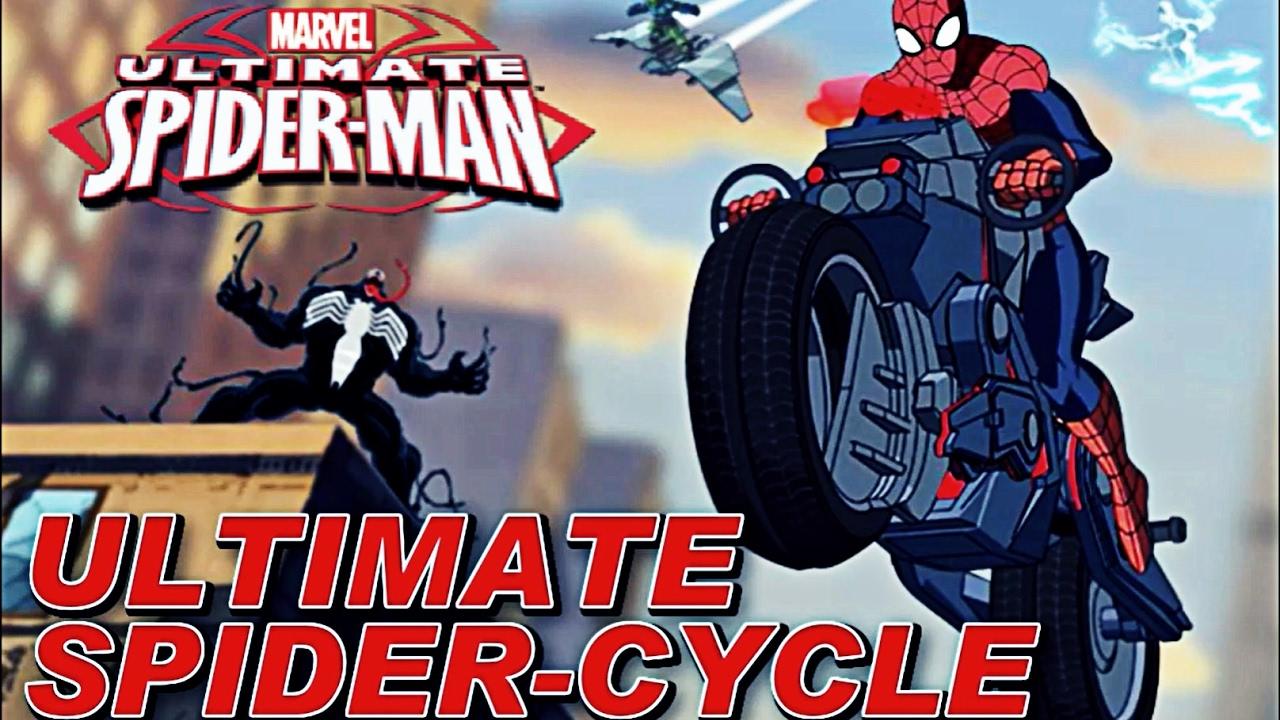Человек Паук на Мотоцикле гонки прохождение игры на ...