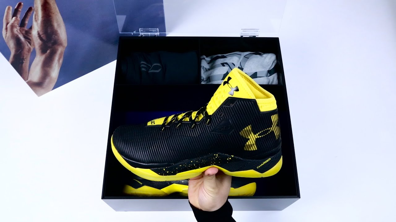 68166d927c Unboxing Steph Curry's Playoff shoe, the UA Curry 2.5 - YouTube