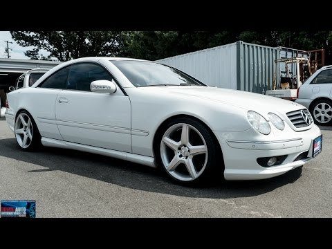 walk around 2000 mercedes benz cl55 amg japanese car auctions youtube. Black Bedroom Furniture Sets. Home Design Ideas