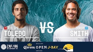 Filipe Toledo vs. Jordy Smith - Quarterfinals, Heat 3 - Corona Open J-Bay 2017