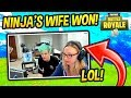NINJA'S WIFE WINS FIRST GAME IN FORTNITE - Fortnite Funny Fails and WTF Moments! #7