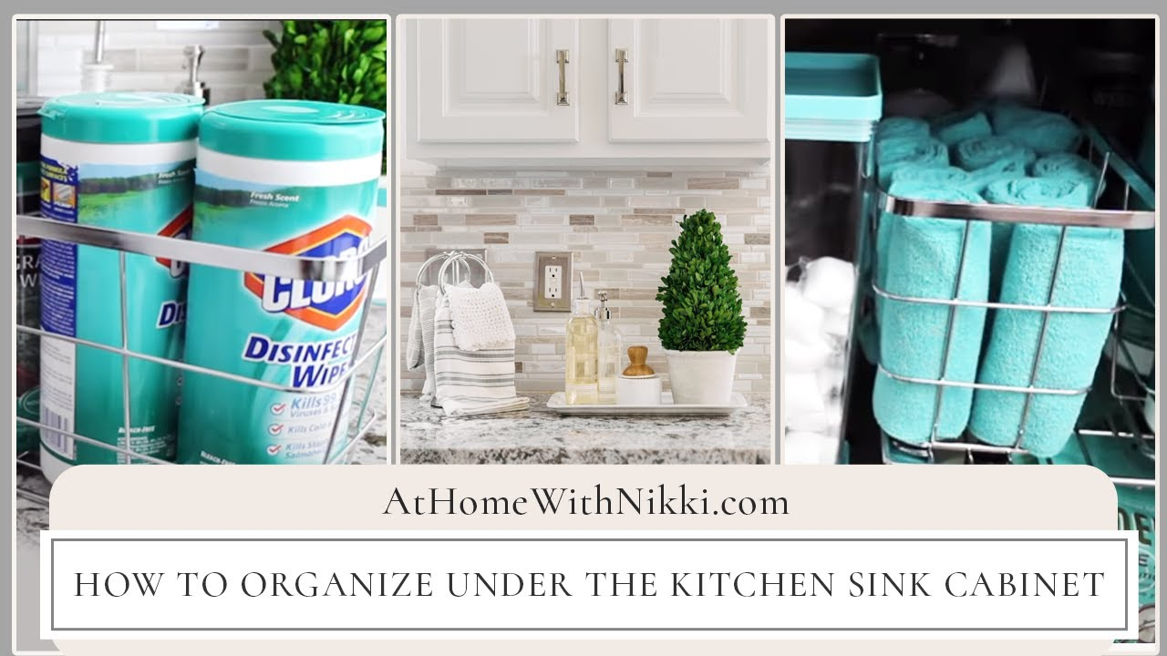 Kitchen Sink Organizer Ideas How To Organize Under The Kitchen Sink Cabinet  Youtube