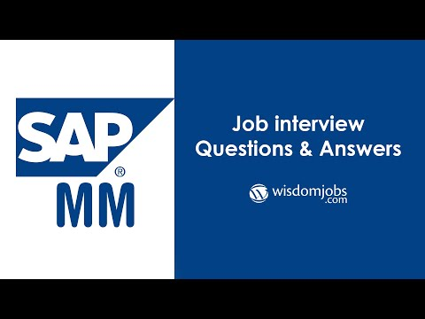 TOP 20 SAP MM Interview Questions And Answers 2019 - SAP Material Management ( SAP MM)