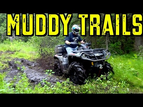 Muddy ATV Ride @ Gold Rock With A Fellow Youtuber - Aug.2, 2015