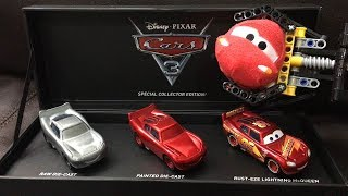 Cars 3 Toys SDCC EXCLUSIVE The Making of Cars 3 Lightning McQueen Die-Cast LEGO TEchnic Mine Loader