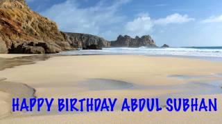 AbdulSubhan   Beaches Playas - Happy Birthday