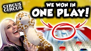We WON in only ONE PLAY! Carnival games at Circus Circus Las Vegas