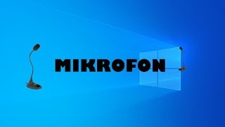 Jak nastavit mikrofon??????? WINDOWS 10