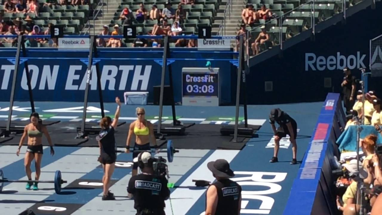 2016 Crossfit Games Masters 45 49 Final Event Youtube