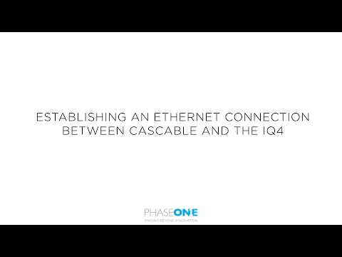 Support | Establishing an ethernet connection between Cascable and the IQ4 Digital Back | Phase One