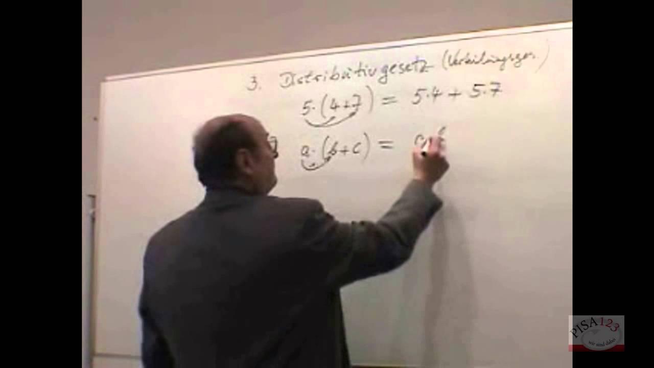 734 - Rationale Zahlen - Distributivgesetz - YouTube