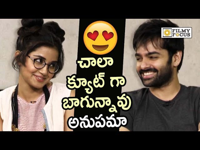 Ram Pothineni Lovable Compliment to Anupamas Cute Look : Funny Video - Filmyfocus.com