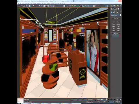 3d Model Of Clothing Store Interior For Men And Women Render Youtube