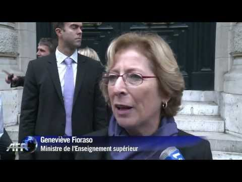 French minister of Higher Education and Research comments on the 2012 Nobel Prize in Physics