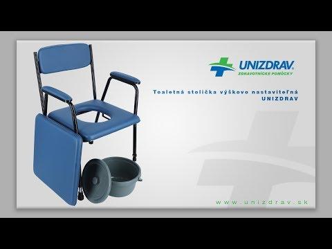 Toaletná stolička výškovo nastaviteľná UNIZDRAV - VIDEOMANUÁL