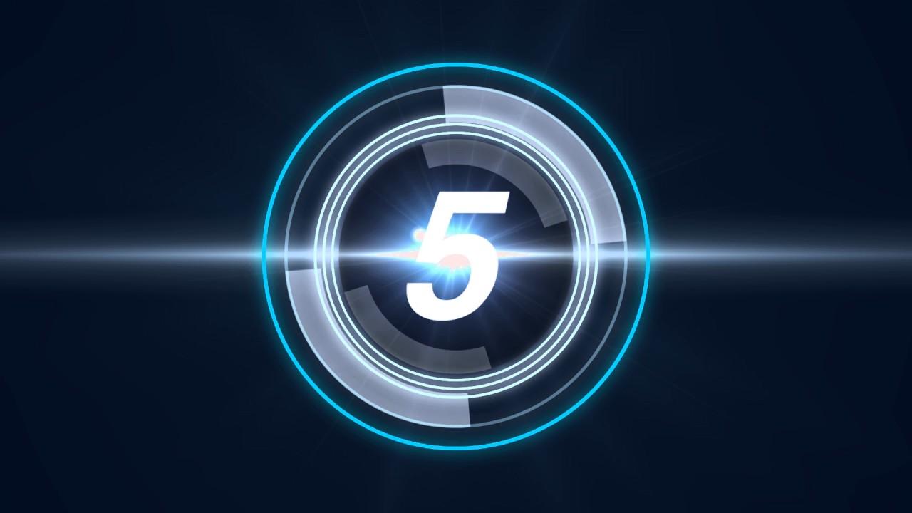 Video Intro Hd Futuristic Countdown Timer Free Youtube Intro