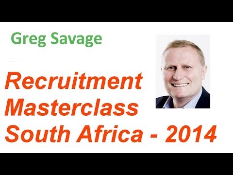 Greg Savage South African Masterclass