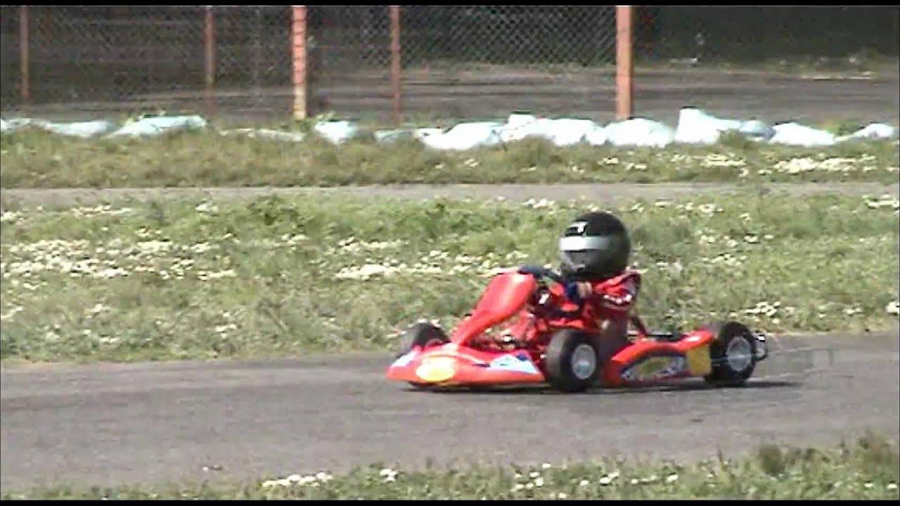 9/3/09 Flavio 4 years GO KART LESSON kid go karting racing anni ...
