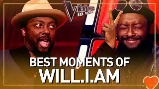 Our 10 FAVORITE moments of coach WILL.I.AM in The Voice