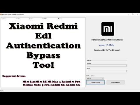 Burmese Xiaomi Redmi Edl Authorized Flasher Bypass Tool - YouTube
