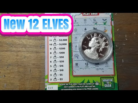 New $3 12 Elves.  PA LOTTERY Christmas SCRATCH TICKETS