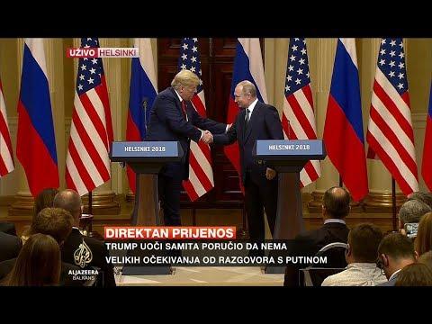 Poruke Putina i Trumpa nakon sastanka u Helsinkiju