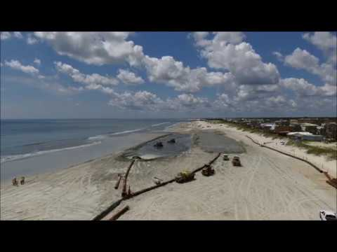 St Augustine Beach Renourishment Project 2017 2018 Aerial Drone View