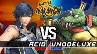 Battle for NAKANDA #1 Losers Quarters: Acid (Chrom) Vs. Unodeluxe (King K. Rool)