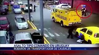 Asalto tipo comando en Uruguay