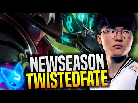 Faker Plays Twisted Fate for New Season! - SKT T1 Faker Playing Twisted Fate Mid with New Runes!