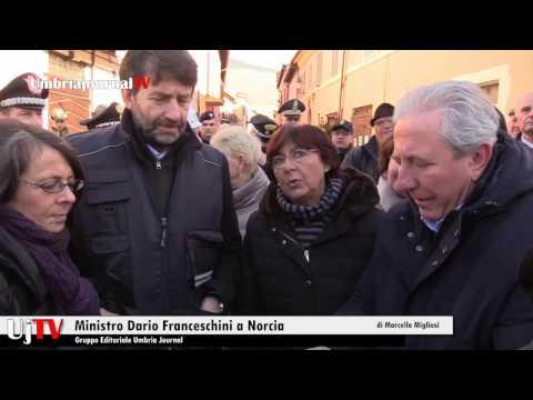 Ministro Dario Franceschini a Norcia