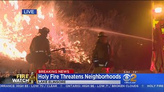 Gov. Brown Declares State Of Emergency In Holy Fire thumbnail