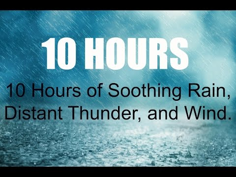 10 Hours Rain, Distant Thunder, and Wind, Sleep Sounds, Ambience