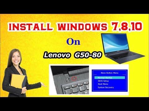 How to Go Bios Option & Boot Menu For Install Windows 7,8,10 on Lenovo  G50-80 Laptop | RJ Solution |