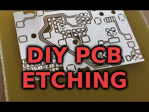 PCB Prototyping Part 1: Etching and Tin Plating